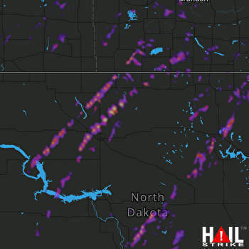 Hail Map Bottineau, ND 09-20-2019