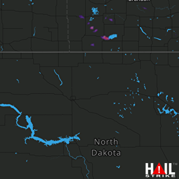Hail Map MINOT AFB 09-24-2019