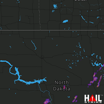Hail Map New Rockford, ND 06-08-2020