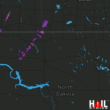 Hail Map Stanley, ND 06-15-2020