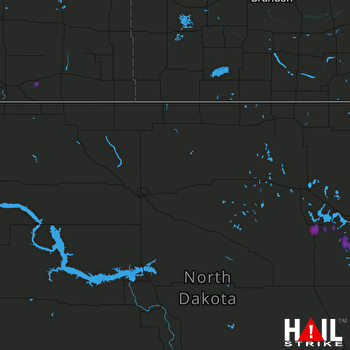 Hail Map Fort Totten, ND 06-25-2020