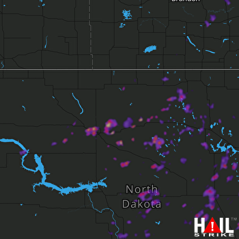 Hail Map Minot, ND 07-17-2020