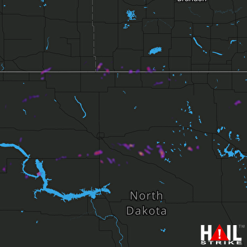 Hail Map MINOT AFB 08-09-2020