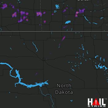 Hail Map Bottineau, ND 08-13-2020