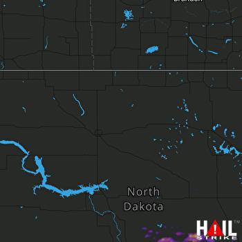 Hail Map Steele, ND 08-24-2020