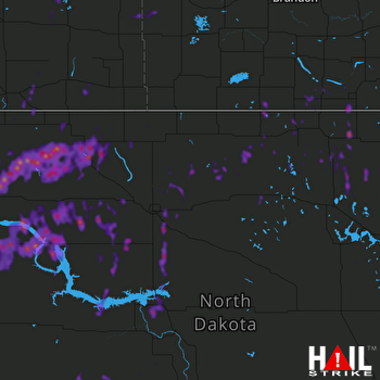 Hail Map Williston, ND 06-11-2021