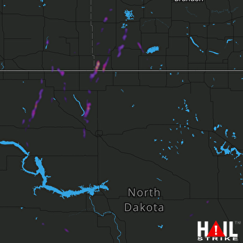 Hail Map MINOT AFB 06-28-2021