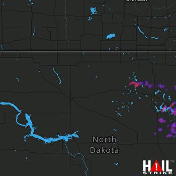 Hail Map Devils Lake, ND 07-04-2021