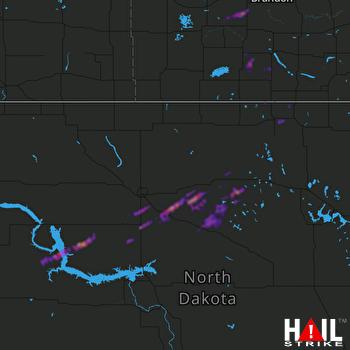 Hail Map Rolla, ND 08-24-2021