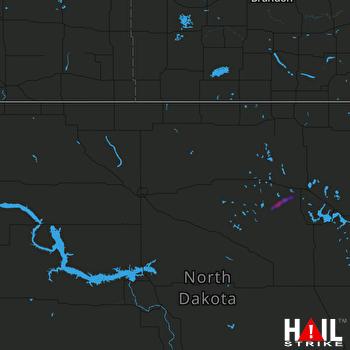 Hail Map MINOT AFB 08-24-2021