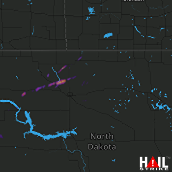 Hail Map Stanley, ND 09-02-2021