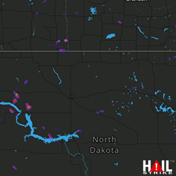 Hail Map Edinburg, ND 06-29-2017