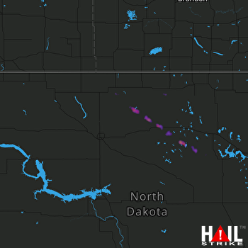 Hail Map MINOT AFB 07-20-2017