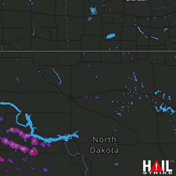 Hail Map Halliday, ND 07-20-2017