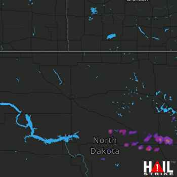 Hail Map Carrington, ND 07-21-2017