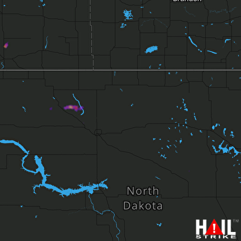 Hail Map MINOT AFB 08-09-2017