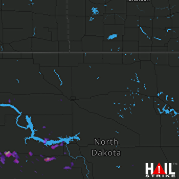 Hail Map Beulah, ND 08-12-2017