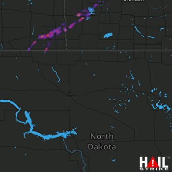 Hail Map MINOT AFB 10-01-2017