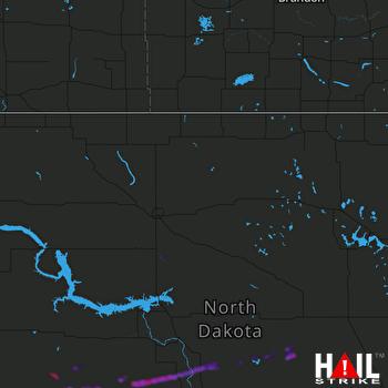 Hail Map MINOT AFB 07-08-2018