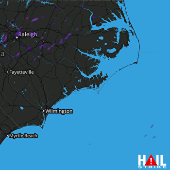 Hail Map Southern Pines, NC 04-08-2019