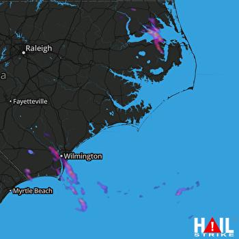 Hail Map Wilmington, NC 06-02-2019