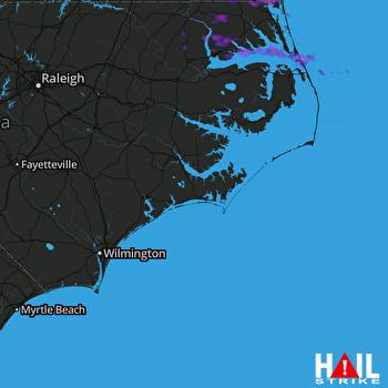 Hail Map Kill Devil Hills, NC 05-28-2017