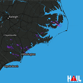 Hail Map New Bern, NC 06-01-2017