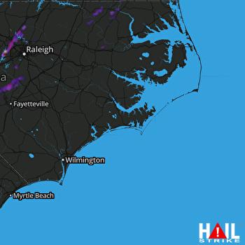 Hail Map Durham, NC 06-19-2017