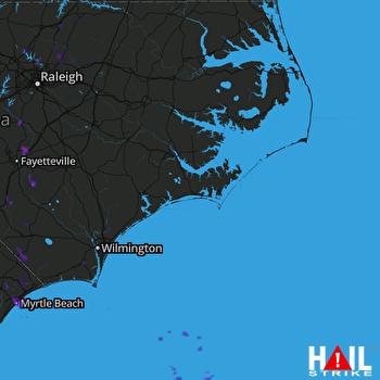 Hail Map Lillington, NC 08-17-2017