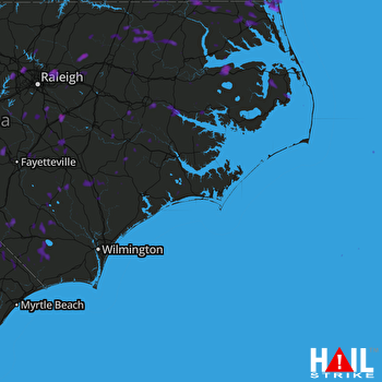 Hail Map Smithfield, NC 08-23-2017