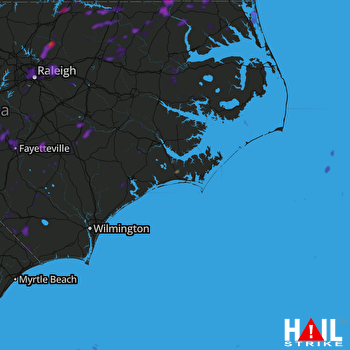 Hail Map Mount Olive, NC 08-11-2018