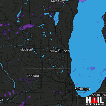 Hail Map Aurora, IL 08-28-2018