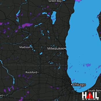Hail Map Aurora, IL 08-28-2018