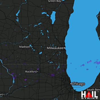 Hail Map Loves Park, IL 09-02-2018