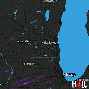 Hail Map Plainfield, IL 04-23-2019