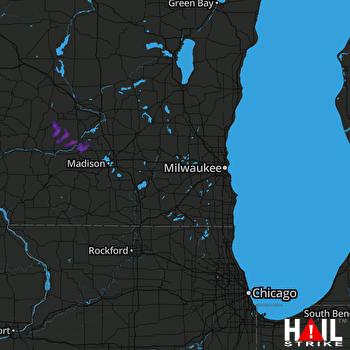 Hail Map Prairie Du Sac, WI 05-05-2019