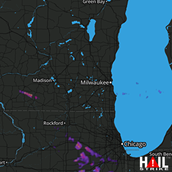 Hail Map Plainfield, IL 05-16-2019