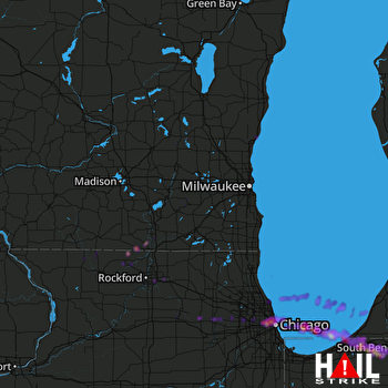 Hail Map Chicago, IL 06-25-2019