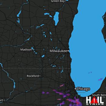 Hail Map Aurora, IL 06-27-2019
