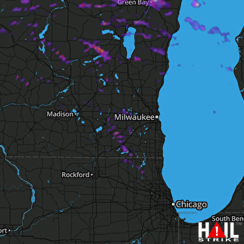 Hail Map Green Bay, WI 08-08-2019