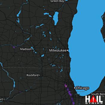 Hail Map Schaumburg, IL 08-14-2019