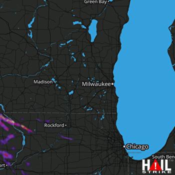 Hail Map Davenport, IA 09-06-2020