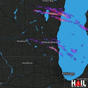 Hail Map Racine, WI 06-19-2021
