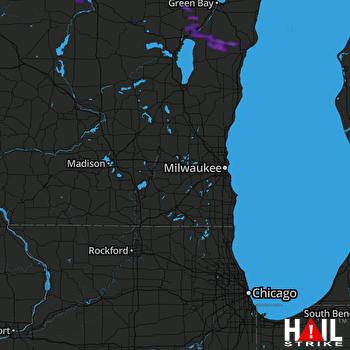 Hail Map Birnamwood, WI 07-27-2021