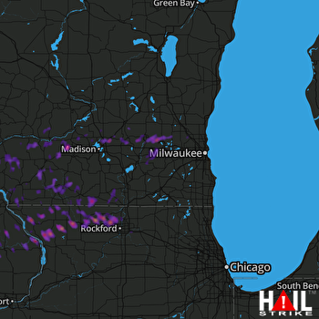 Hail Map Freeport, IL 06-29-2017