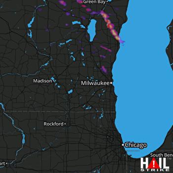 Hail Map Jackson, WI 07-07-2017