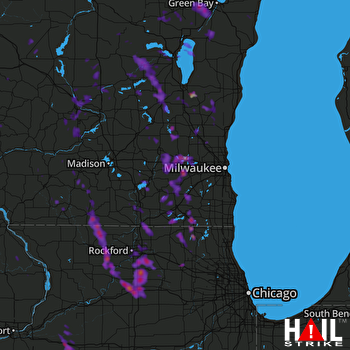 Hail Map Rockford, IL 07-16-2017