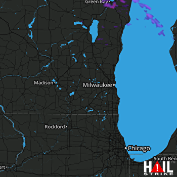 Hail Map Green Bay, WI 07-23-2017