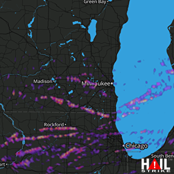 Hail Map Rockford, IL 05-03-2018