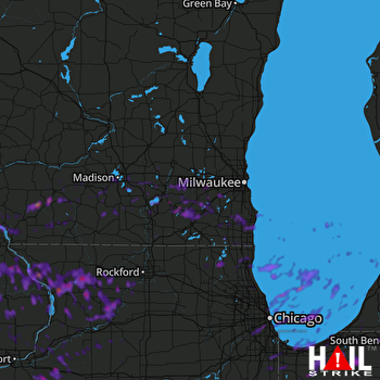 Hail Map Whitewater, WI 05-14-2018